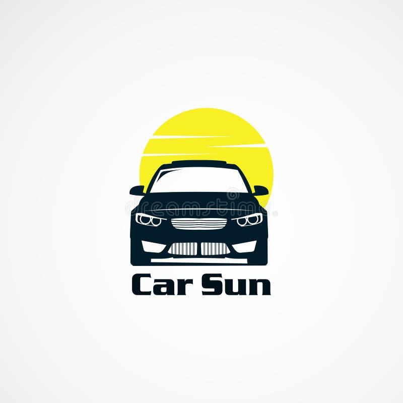 Het embleem van de autozon ontwerpt eenvoudig concept, pictogram, element, en malplaatje voor bedrijf stock illustratie