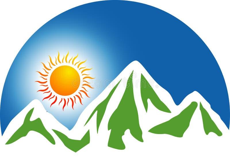Het embleem van de berg royalty-vrije illustratie