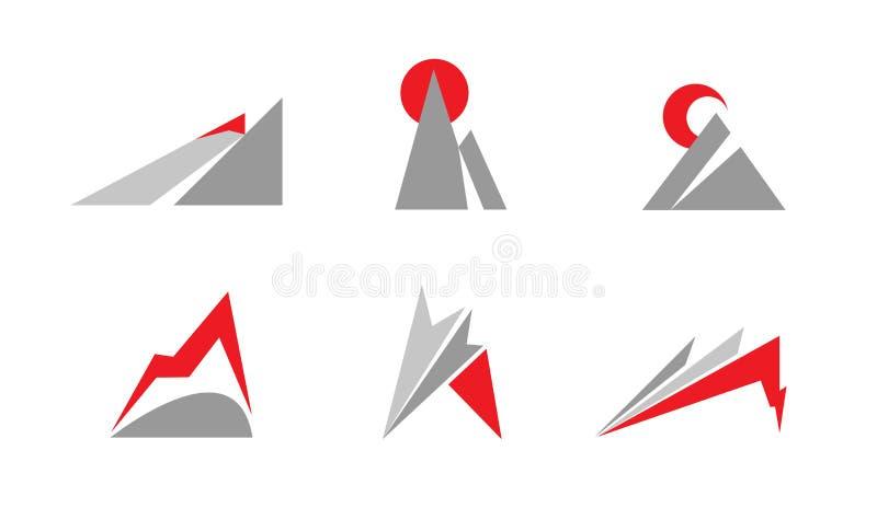 Het embleem van de berg stock afbeelding