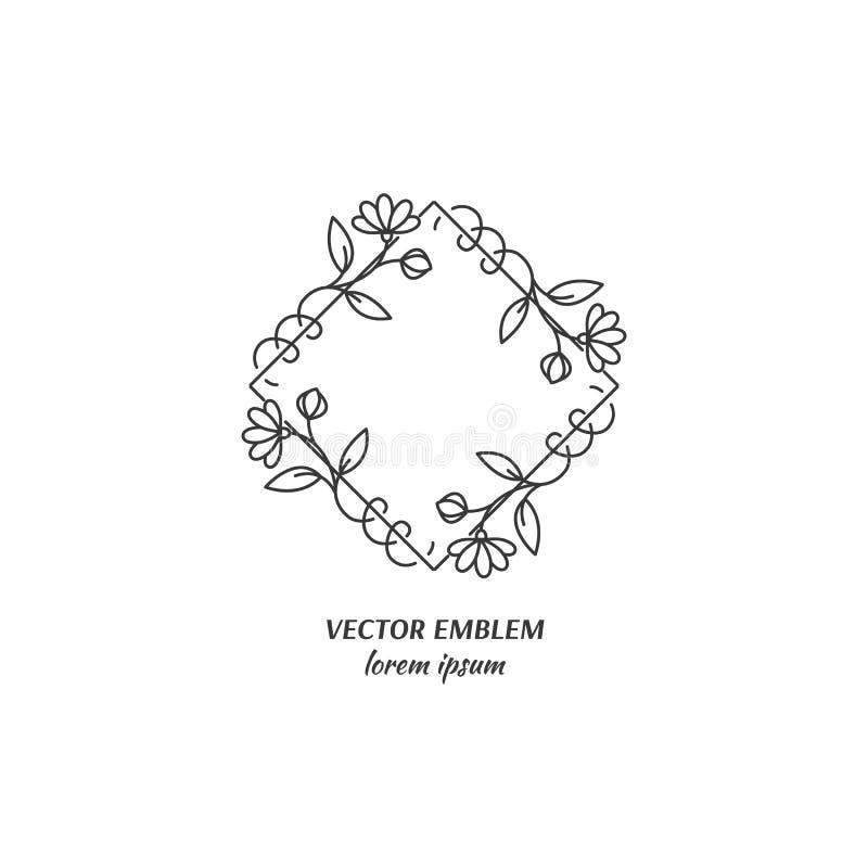 Het embleem van de bloemwinkel vector illustratie
