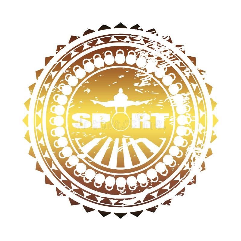Het embleem van de Bodybuildingsclub royalty-vrije illustratie
