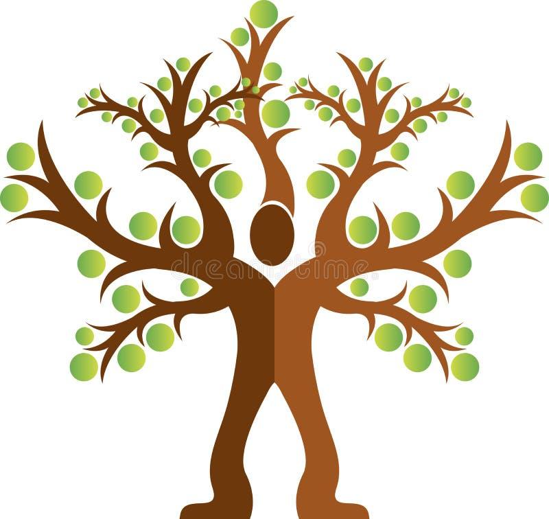 het embleem van de boommens vector illustratie