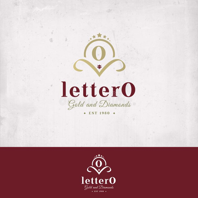 Het Embleem van de brief O stock foto