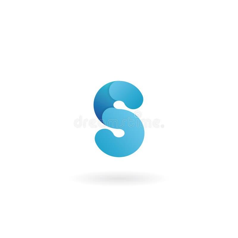 Het Embleem van de brief S Blauw pictogram Lint gestileerde doopvont royalty-vrije illustratie