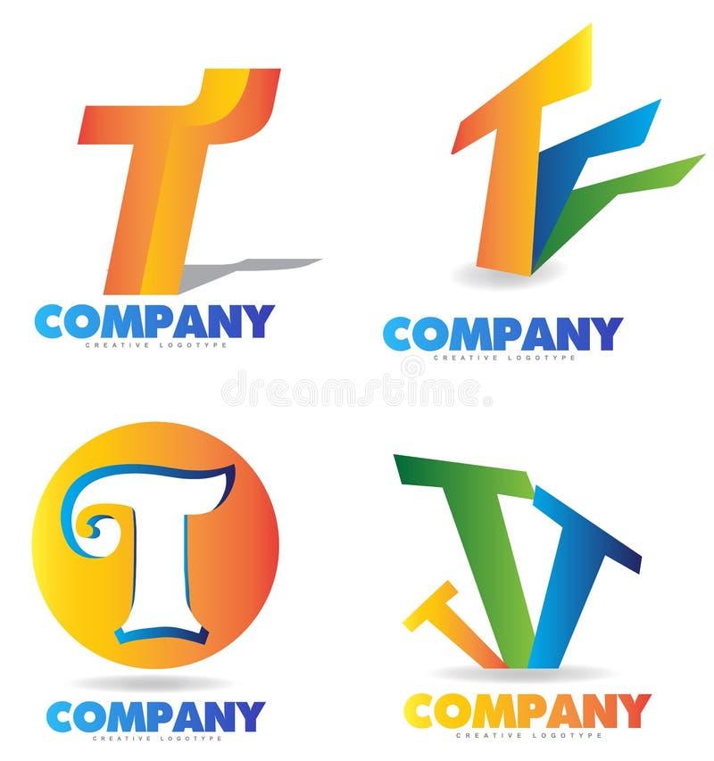 Het Embleem van de brief T royalty-vrije illustratie
