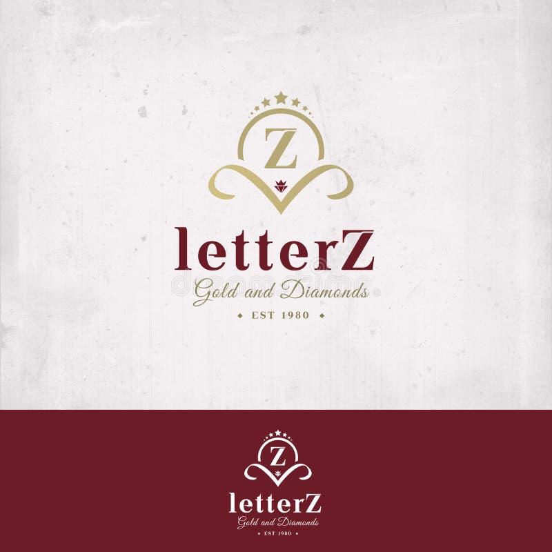 Het Embleem van de brief Z stock illustratie