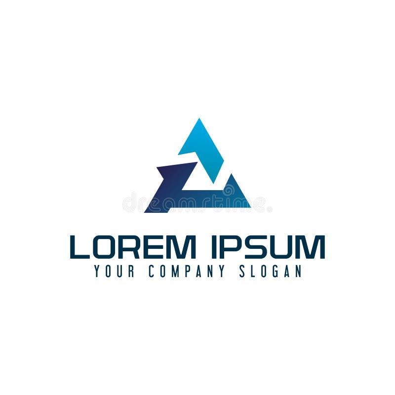 Het embleem van de brievena driehoek het moderne malplaatje van het ontwerpconcept stock illustratie