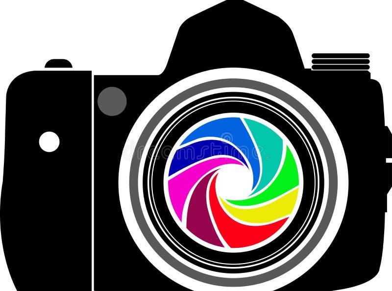 Het embleem van de camera royalty-vrije illustratie