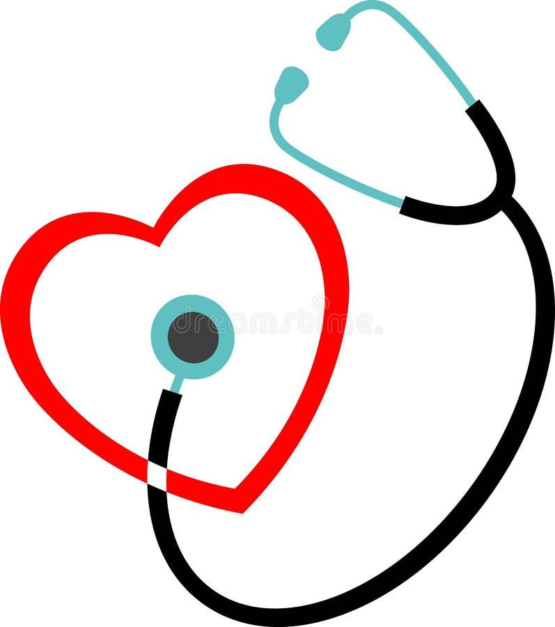 Het embleem van de cardiologie stock illustratie