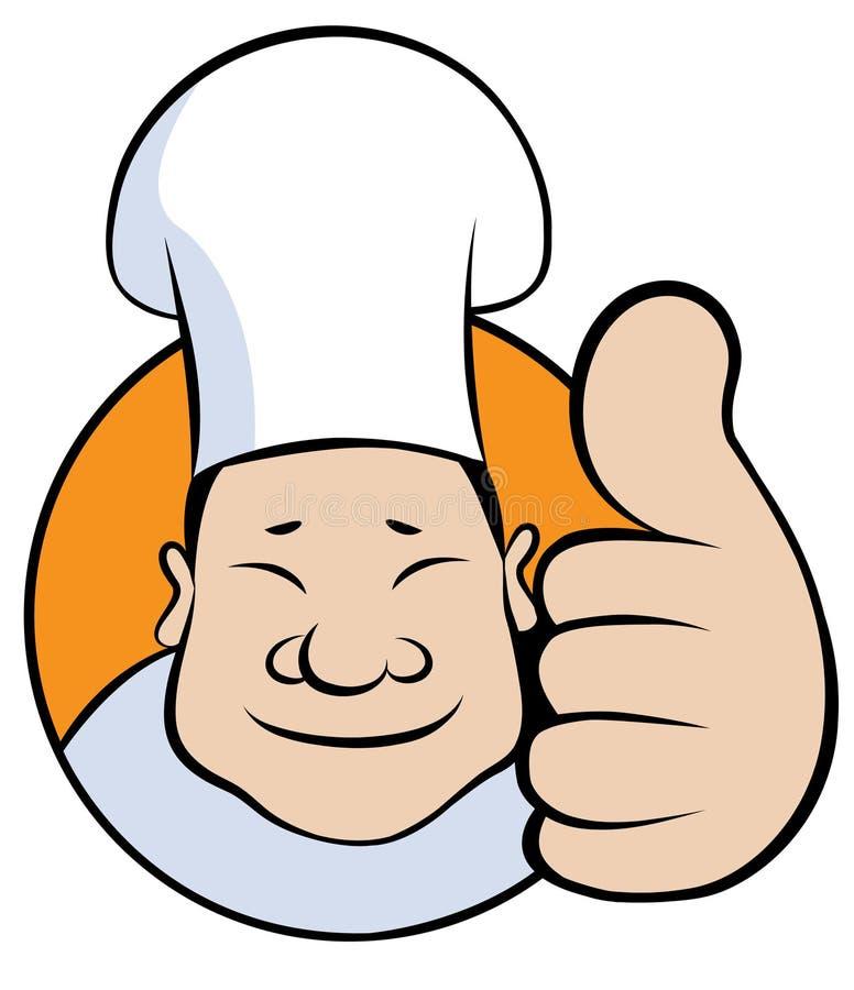 Het Embleem van de Chef-kok van het beeldverhaal royalty-vrije illustratie
