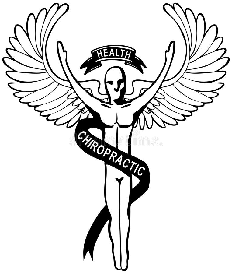 Het Embleem van de chiropraktijk royalty-vrije illustratie