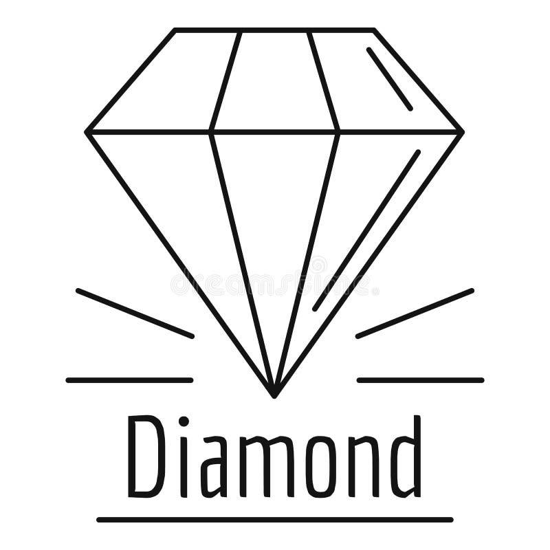 Het embleem van de diamantsteen, overzichtsstijl royalty-vrije illustratie