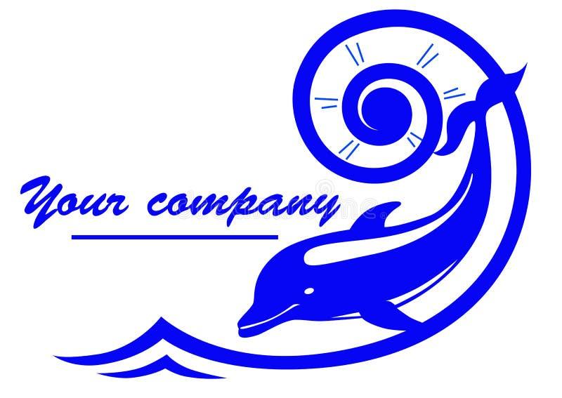 Het embleem van de dolfijn royalty-vrije illustratie