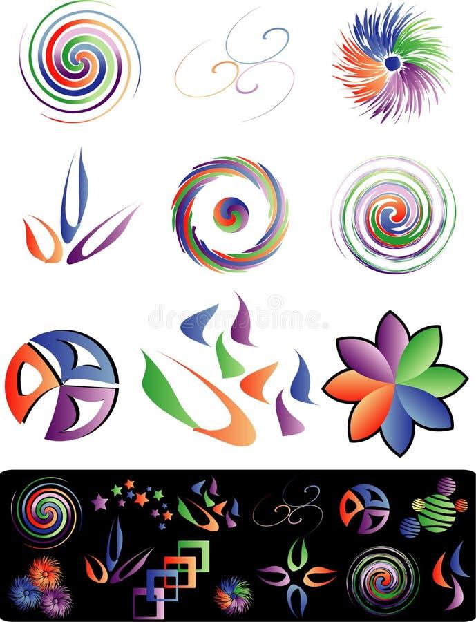 Het embleem van de draai vector illustratie