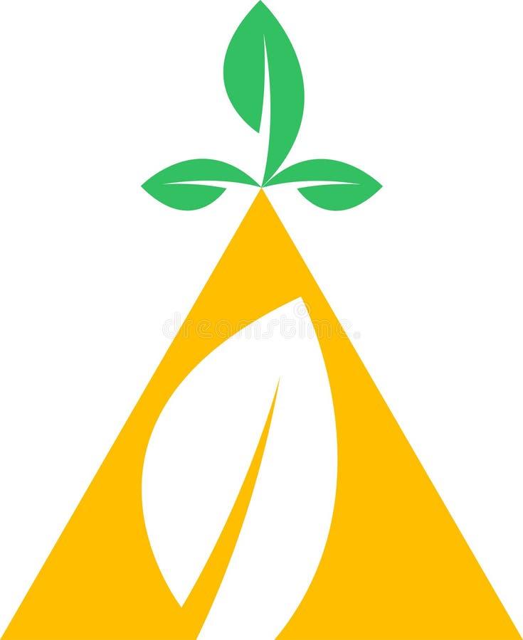 Het embleem van de driehoek vector illustratie
