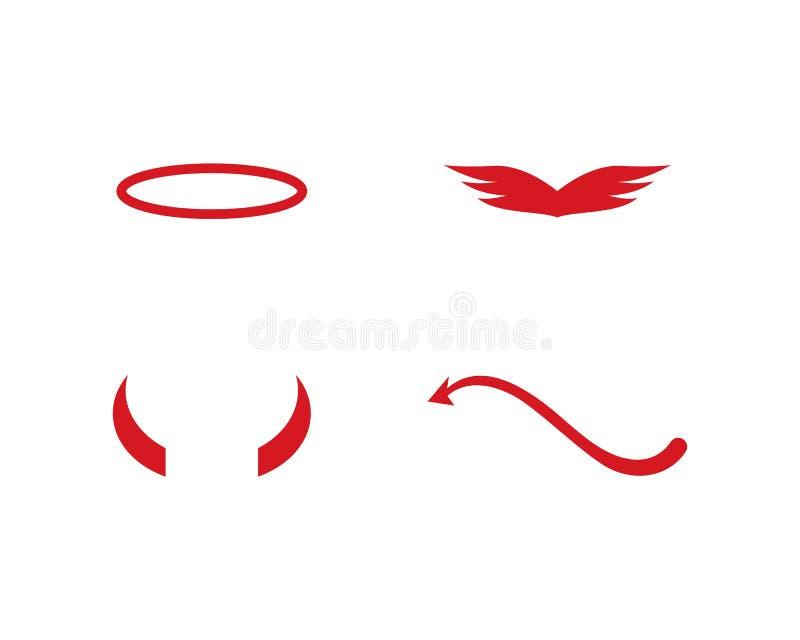 Het embleem van de duivelsengel royalty-vrije illustratie