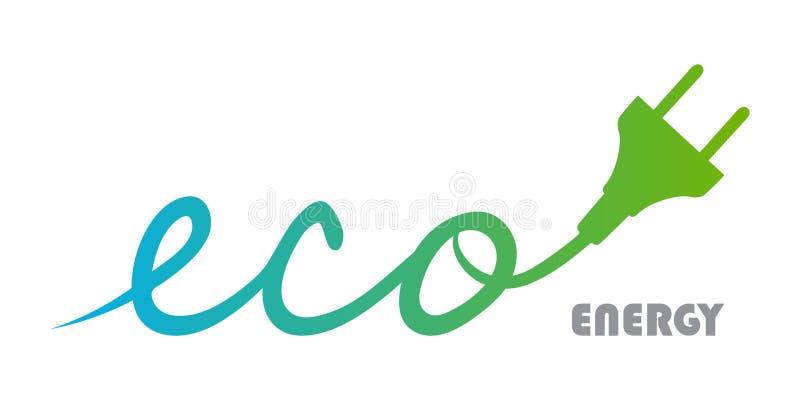Het embleem van de Ecoenergie vector illustratie