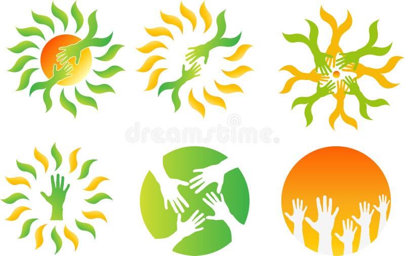 Het embleem van de Ecovriendschap vector illustratie