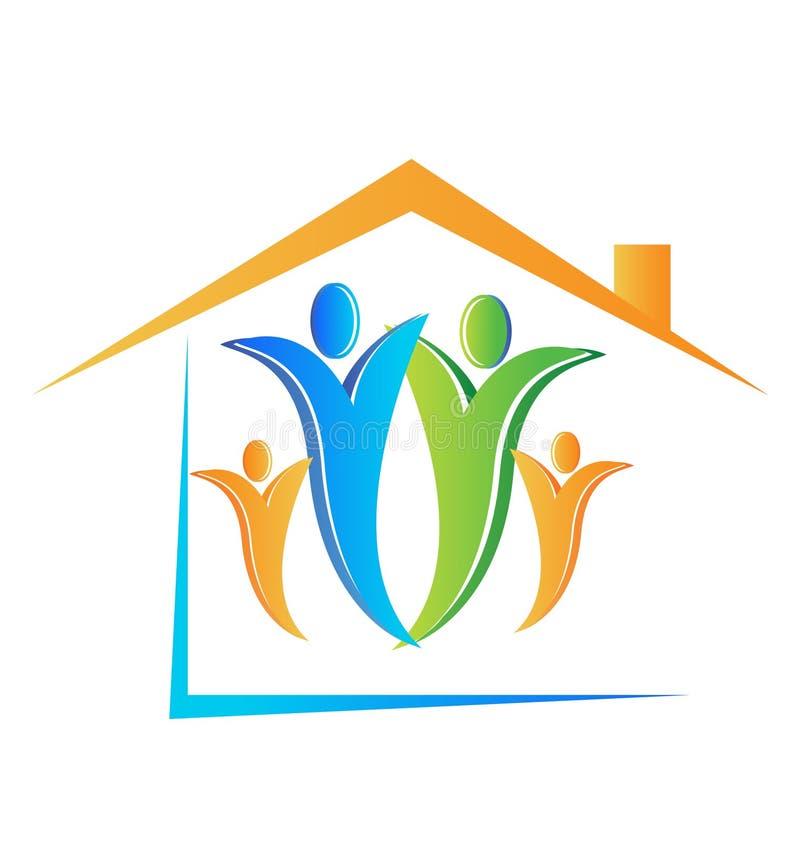 Het embleem van de familie en van het huis vector illustratie