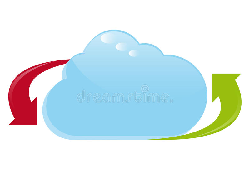 Het Embleem van de Gegevensverwerking van de wolk stock illustratie