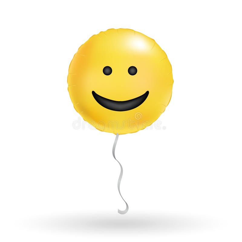 Het embleem van de glimlachtypografie stock illustratie