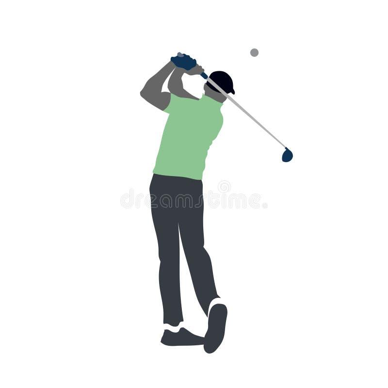 Het embleem van de golfspeler solated vector vector illustratie