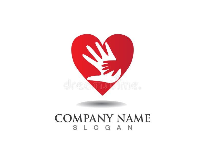 Het embleem van de handhulp en van het symbolenmalplaatje pictogrammen app royalty-vrije illustratie