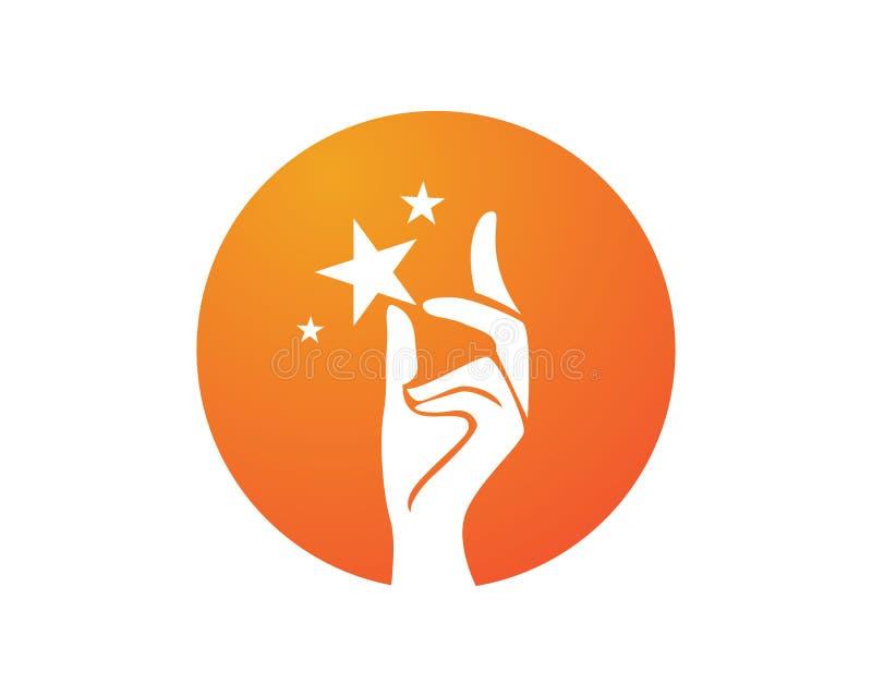 Het embleem van de handhulp en van het symbolenmalplaatje pictogrammen app vector illustratie