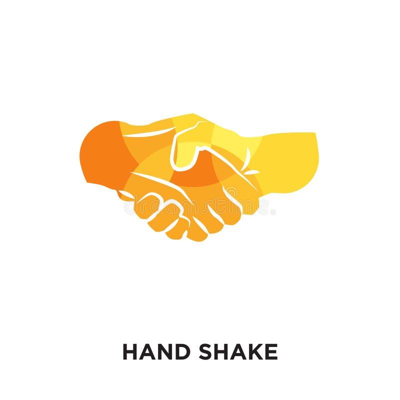 het embleem van de handschok op witte achtergrond voor uw Web wordt geïsoleerd dat, mobil stock illustratie