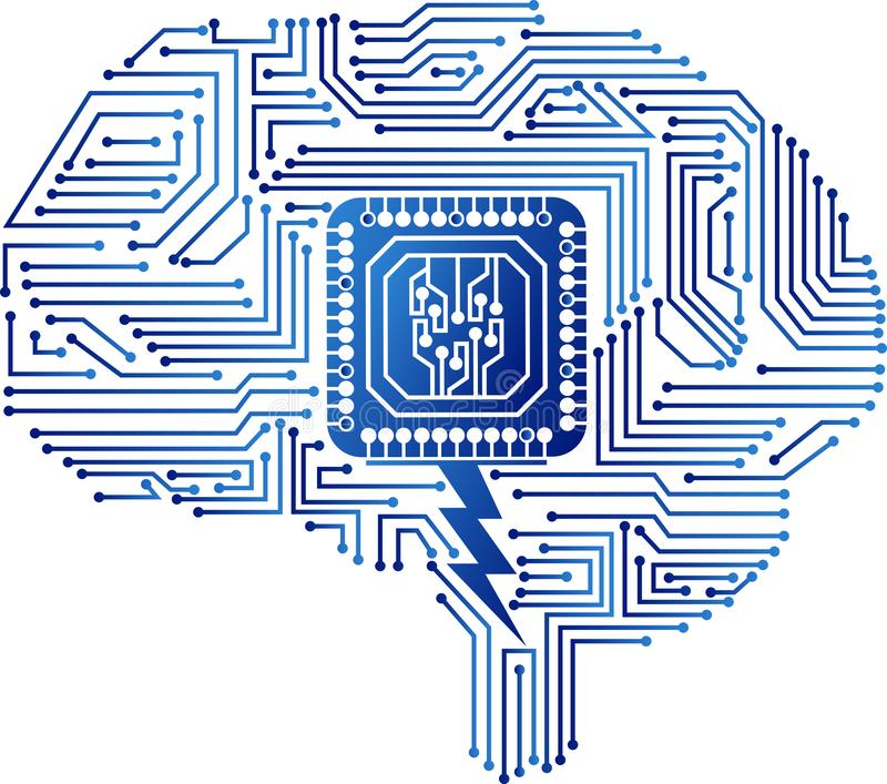 Het embleem van de hersenenkring stock illustratie
