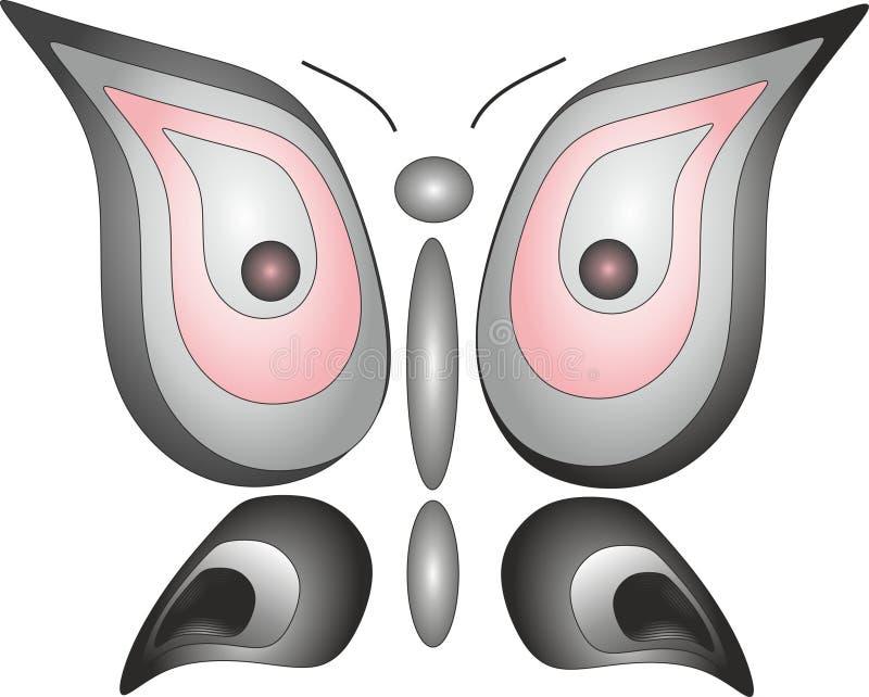 Het embleem van de het insectvrijheid van de vlinderuil royalty-vrije stock afbeeldingen