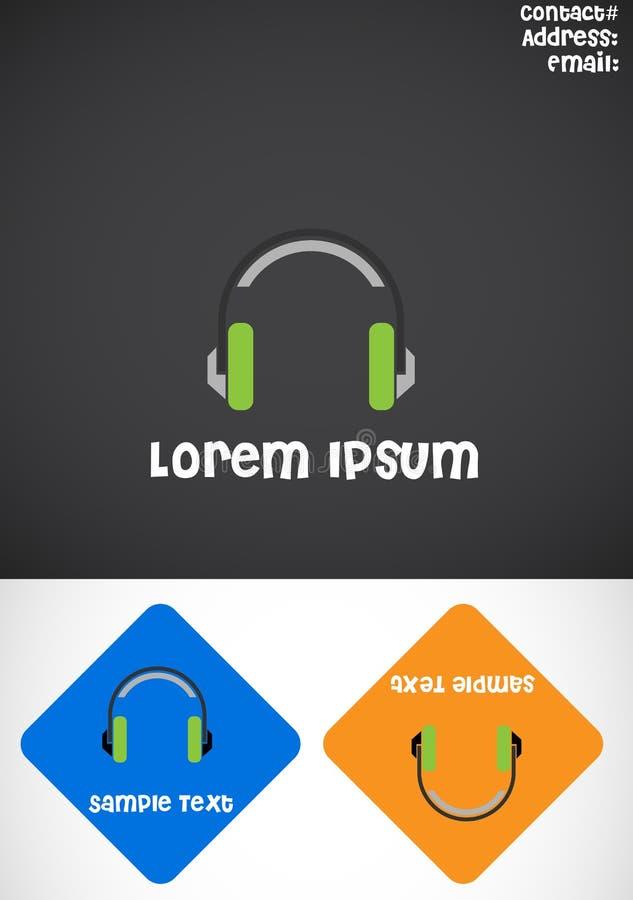 Het Embleem van de hoofdtelefoon stock illustratie
