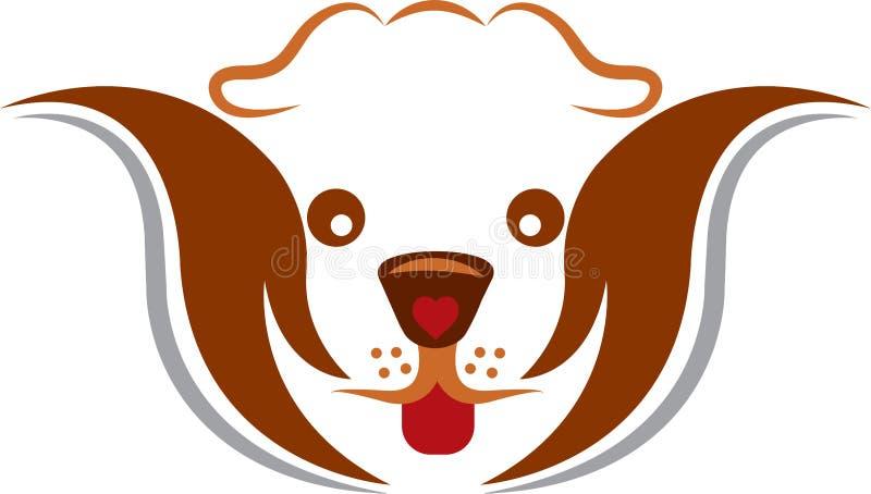 Het embleem van de huisdierenzorg vector illustratie