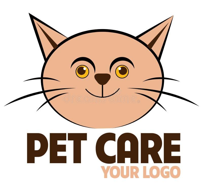 Het embleem van de huisdierenzorg royalty-vrije illustratie