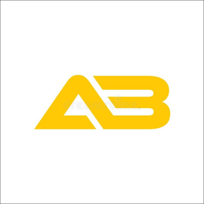 Het embleem van de initialenbrief ab royalty-vrije illustratie