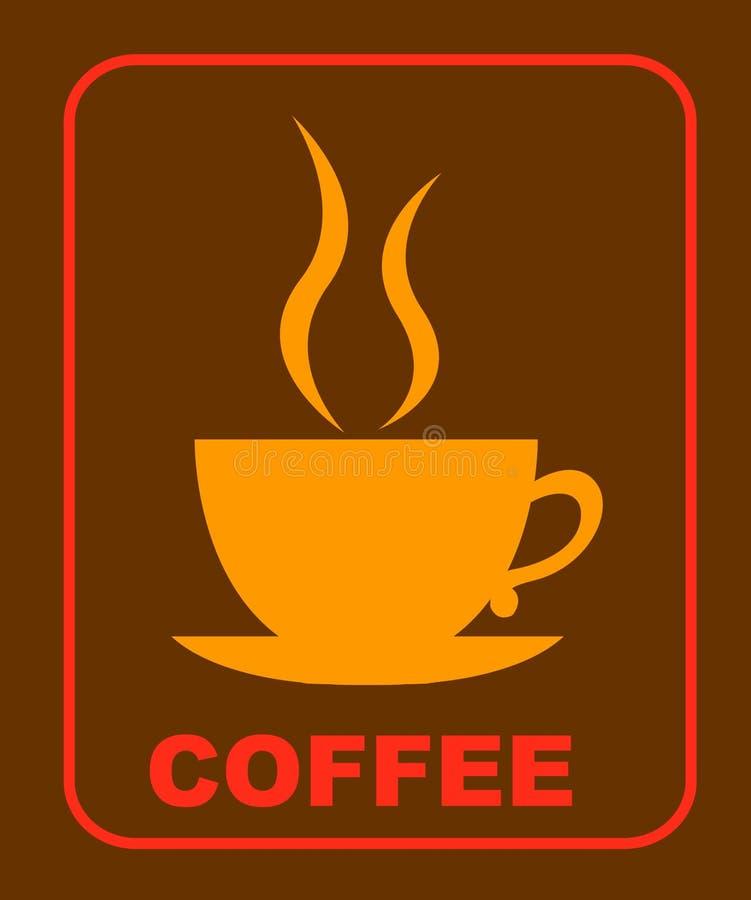 Het embleem van de koffie royalty-vrije illustratie