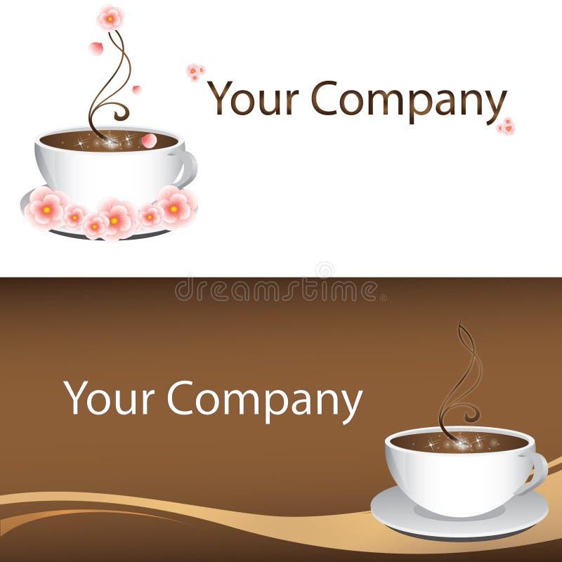 Het embleem van de koffie stock illustratie