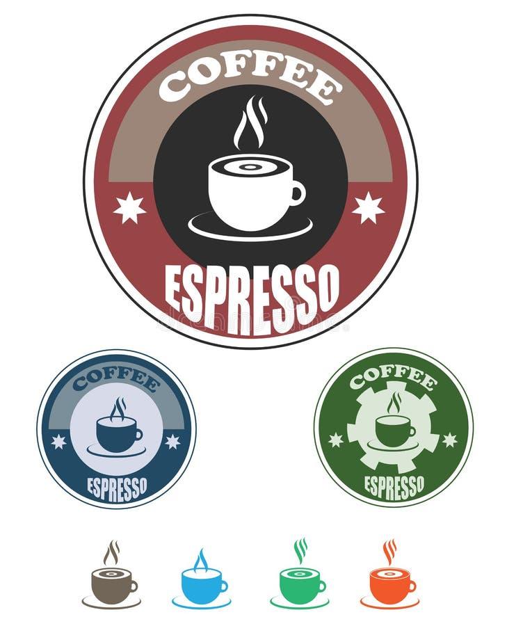 Het embleem van de koffie en van de thee vector illustratie