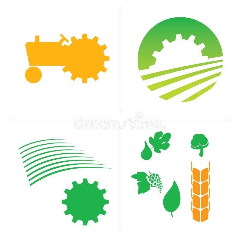 Het embleem van de landbouw vector illustratie