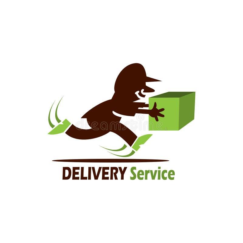 Het embleem van de leveringsdienst royalty-vrije illustratie