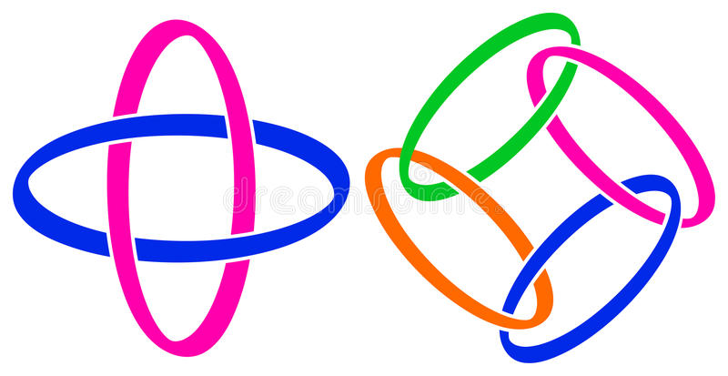 Het embleem van de link royalty-vrije illustratie