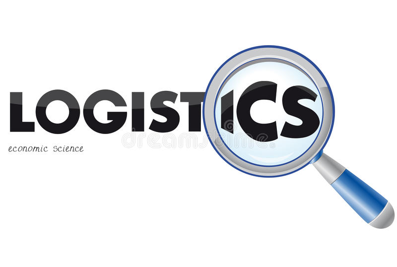 Het embleem van de logistiek vector illustratie