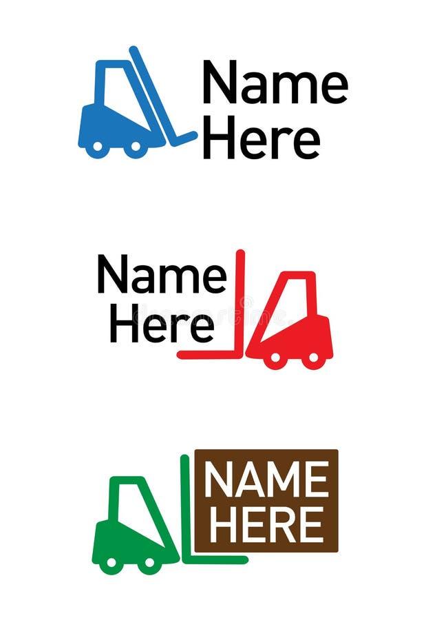 Het embleem van de logistisch-vracht vector illustratie