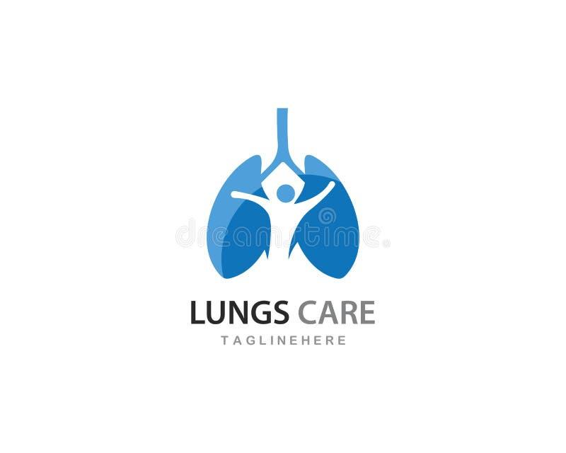 Het embleem van de longenzorg stock illustratie