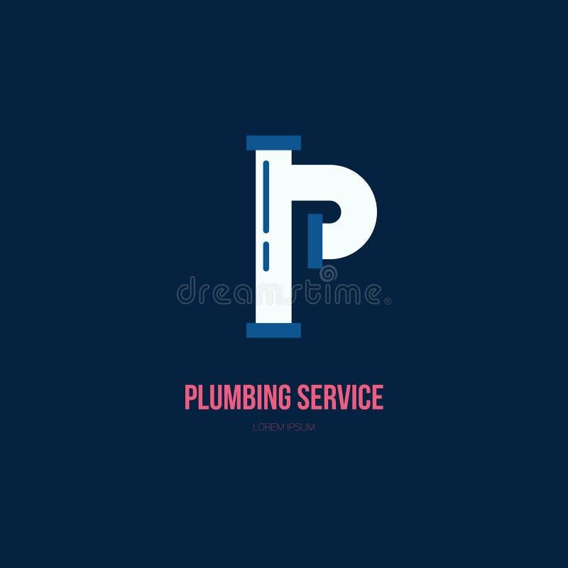 Het Embleem van de loodgieterswerkdienst stock illustratie