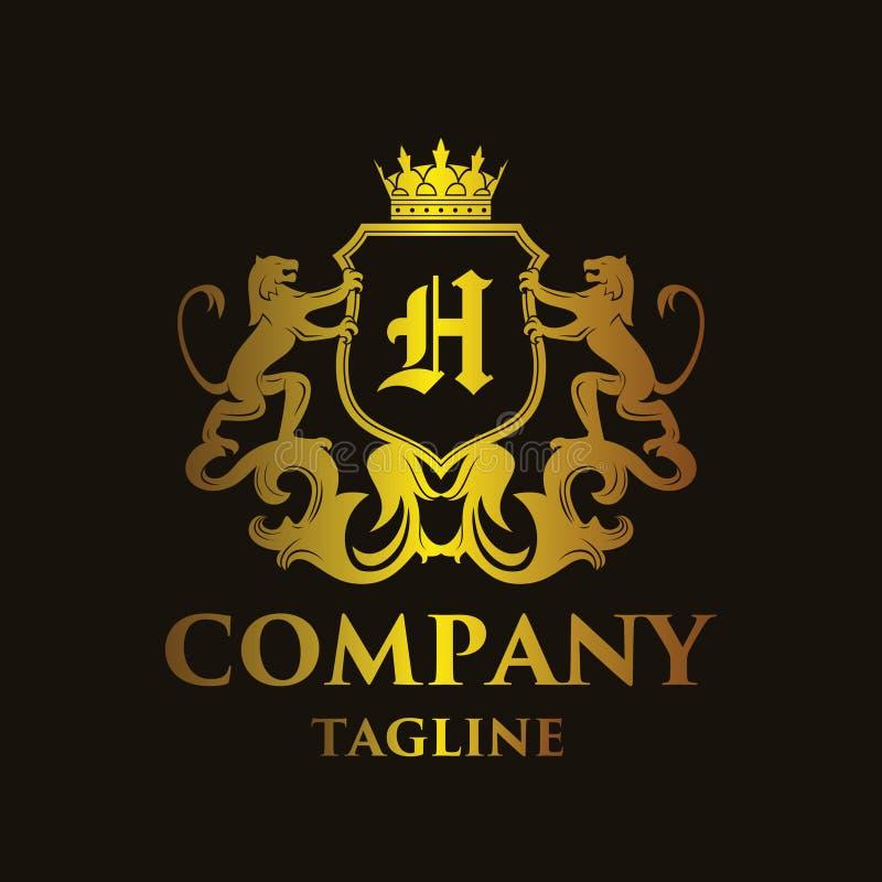 Het Embleem van de luxebrief ` H ` royalty-vrije illustratie