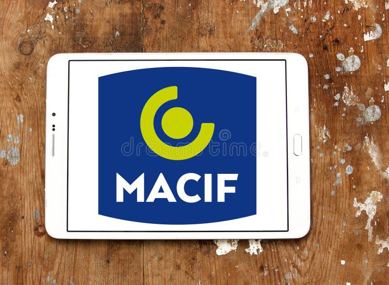 Het embleem van de Macifverzekeringsmaatschappij stock afbeeldingen