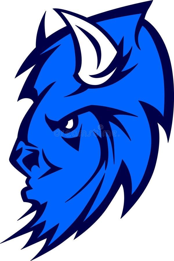 Het Embleem van de Mascotte van buffels vector illustratie