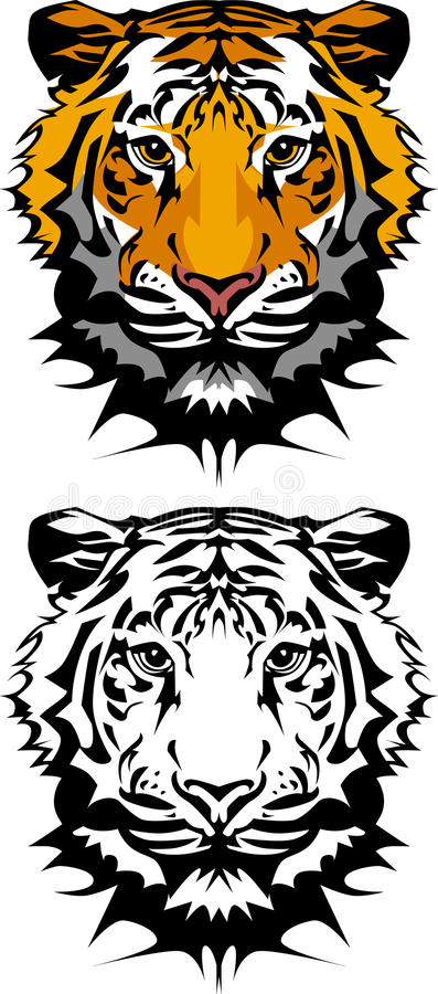 Het Embleem van de Mascotte van de tijger vector illustratie