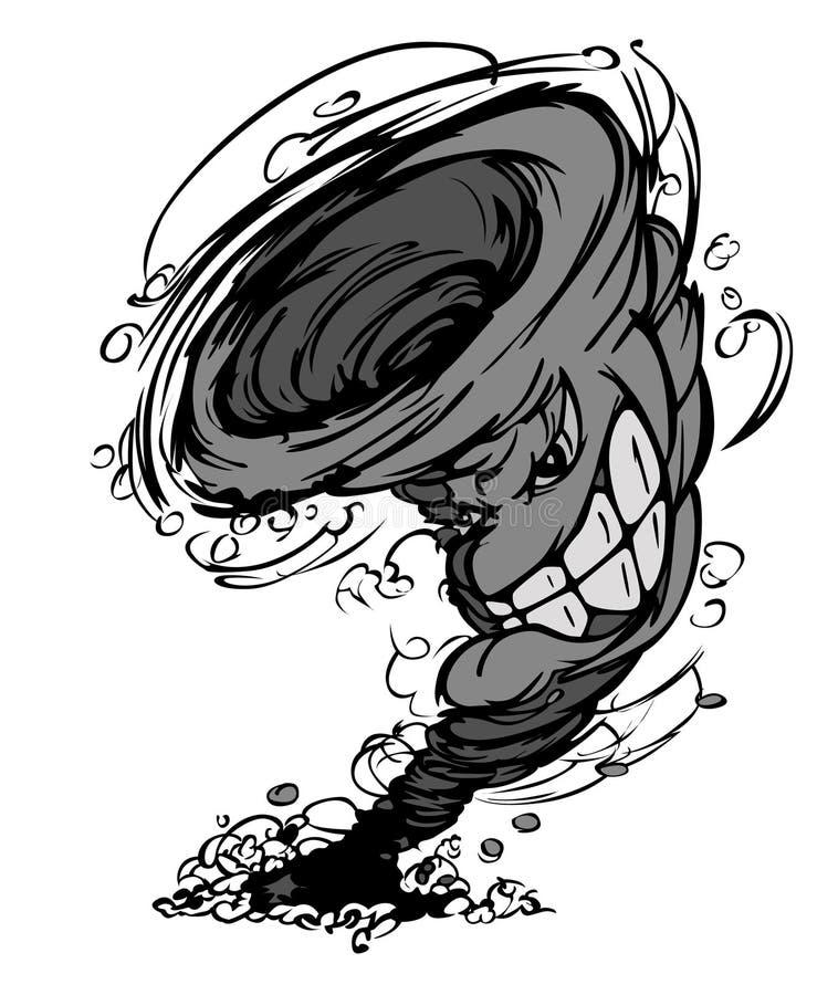 Het Embleem van de Mascotte van de Tornado van het onweer stock illustratie
